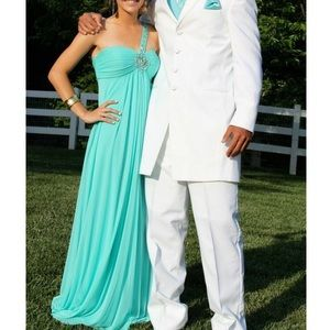 Turquoise Long Prom Dress